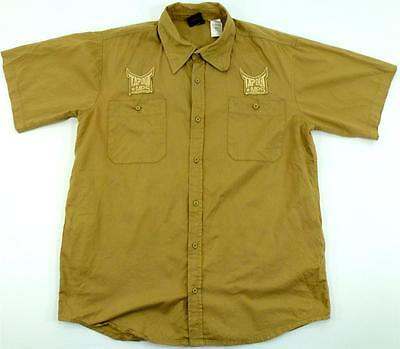 TAPOUT MPS FIGHTER MMA UFC CAGE FIGHT KHAKI TAN BUTTON UP S/S XXLARGE MENS SHIRT