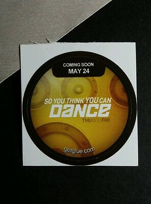 SO YOU THINK YOU CAN DANCE TITLE NAME TV GET GLUE STICKER