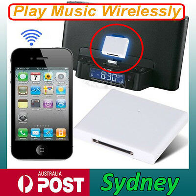 Bluetooth Music Audio Receiver Adapter for iPod iPhone 4 5 5S 30Pin Dock Speaker