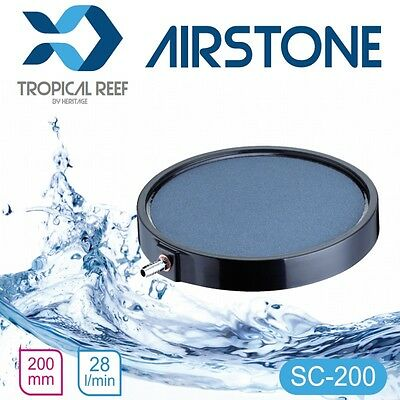 "Ceramic Bubble Disc Large Airstone Diffuser Koi Fish Pond Air Stone 8"" Sc 200Mm"