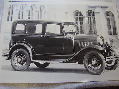 1930 - 1931  FORD MODEL A 4DR. 12 X 18  LARGE PICTURE  PHOTO