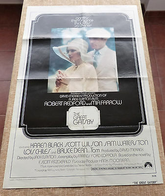 The Great Gatsby Movie Poster, Original, Int´l, Folded, One Sheet, 1974, U.S.A.