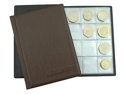 COLLECTOR RED COIN ALBUM 96 coins perfect for 50p and £1 ‎€1 €2 COINS BOOK R1