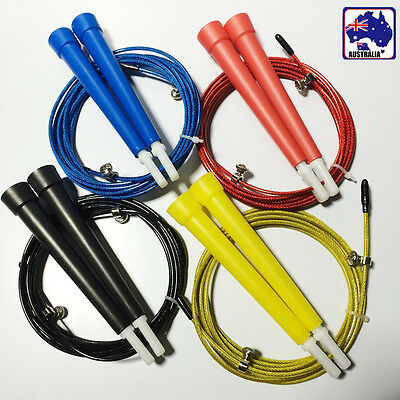 Steel Cable Wire Jump Skipping Sport Rope Adjustable Jumping Fitness SJUMP49