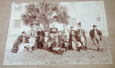 Early 1900's Photo Columbia SC Knights of Pythias Elaborate Costumes