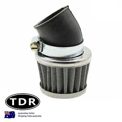 35mm Chrome Angled Motorcycle Air Filter Atomik Thumpstar Pit Dirt Bike Buggy