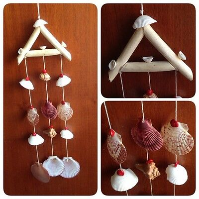 Beautiful Natural Sea Shell Wooden Handmade Wind Chimes