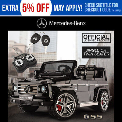 Kids Electric Ride On Car Licensed Mercedes Benz G55 AMG Battery 2v Toy Black