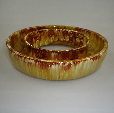 Large John Campbell Pottery  Posy Ring