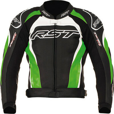 RST Tractech Evo 2 Leather Sports Motorcycle Jacket - Green