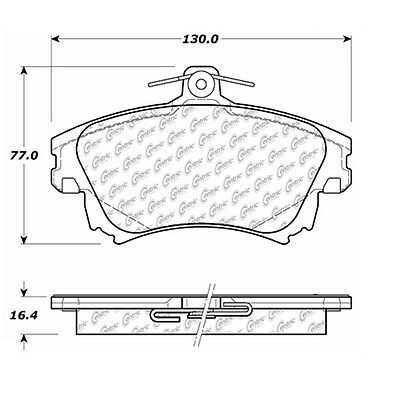 Disc Brake Pad-Posi-Quiet Extended Wear Pads w/Shims fits 00-04 Volvo V40