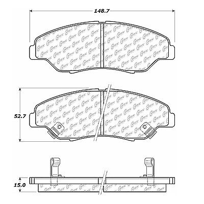 Disc Brake Pad-Posi-Quiet Extended Wear Pads w/Shims & Hardware fits Sportage