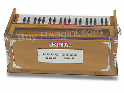 Harmonium Bina™ No.9/coupler/42 Key/teak Color/free Ship./multi-Fold/bag/age-1