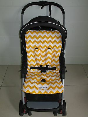 *YELLOW CHEVRON*universal stroller,pram,car seat liner set *NEW*