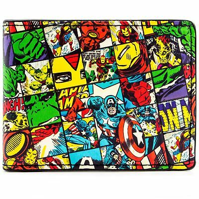 New Official Cool Avengers Characters Checked Bi-Fold Wallet