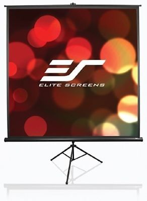 Elite Screens T99NWS1 Tripod Pro Screen - 1-1 - 99in. Diag (70in x 70in.) - Wh.