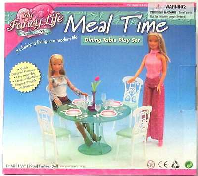 Gloria Doll House Furniture, My Fancy Life Meal Time (Fits Barbie Dolls)