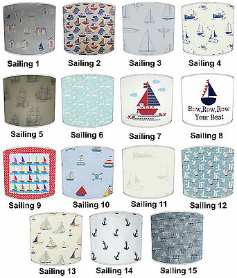 Sailing Boats Designs Lampshades Ideal To Match Nautical Yachts Cushions Decals.