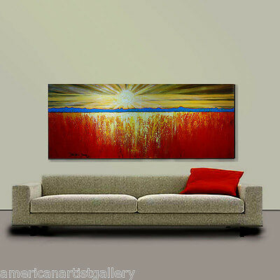 ORIGINAL PAINTING Abstract Very Large 24x60 Landscape Modern Art by Thomas John