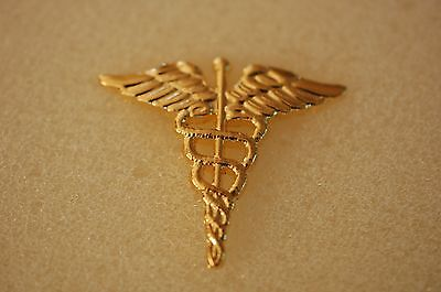 US USA Army Medical Corps Military Hat Lapel Pin
