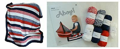 Easy KNITTED BABY BLANKET KIT RICO Baby Cotton Soft DK Yarn Knitting Pattern
