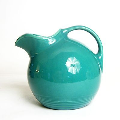 Homer Laughlin Pottery Harlequin Spruce Green Ice Lip Ball Pitcher
