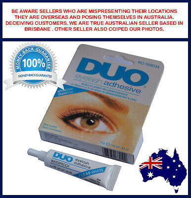 DUO Waterproof Eyelash Glue False Eyelash Adhesive White Clear Dries Invisibly