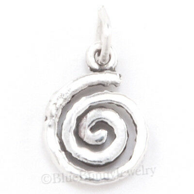 NATIVE INDIAN SWIRL SPIRAL petroglyph Charm Pendant whirl wind STERLING SILVER