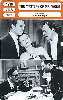 Fiche Cinéma. Movie Card. The mystery of Mr. Wong (USA) William Night 1939