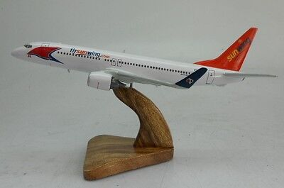 B737-800 Boeing Sunwing Airlines Airplane Wood Model Free Shipping Large New