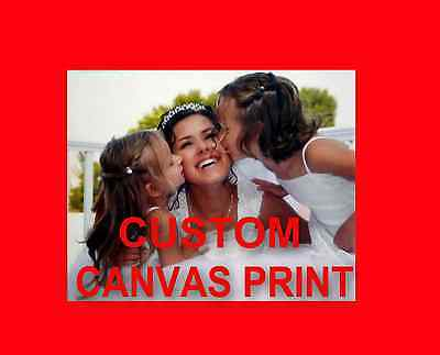 Custom Canvas Printing; Print Your Own Photo On Canvas, No Wooden  Frame