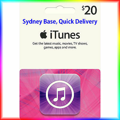 $20 Australian iTunes Gift Card for Music,Movies,Books,Apps *GET IT QUICK*