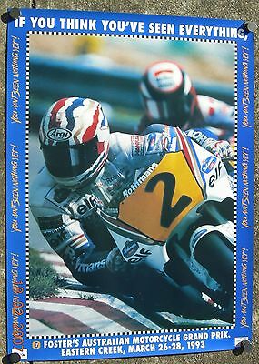 Australian Motorcycle Gp Poster 1993 You Aint Seen Nothing Yet Mint Cond - Nos