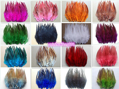 Wholesale 50/100pcs beautiful rooster tail feathers 12-15cm / 5-6inches 30Colors
