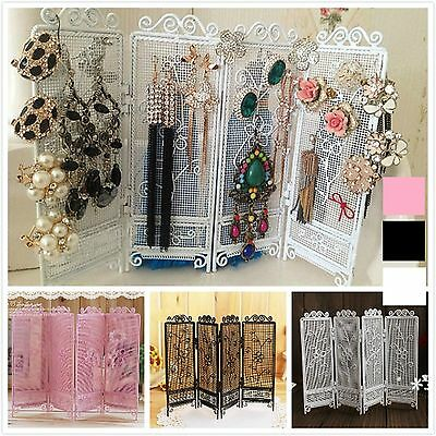 MIni 4 Door Foldable Jewellery Earring Display Stand Holder Ear Studs Ornament