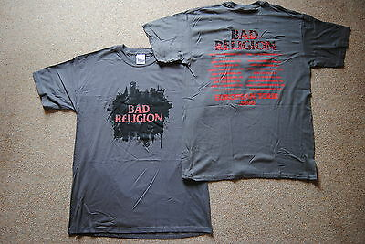 Bad Religion Hollywood European Tour 2008 T Shirt New Official New Maps Of Hell