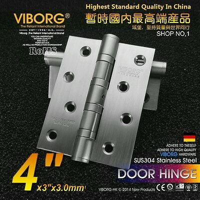 """(3-pack) 4"""" x 3"""" SUS304 Stainless Steel Extra-thick Ball Bearing Door Hinges"""