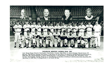1961 Vancouver Mounties Vintage Baseball 8X10 Team  Photo Braves