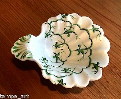 Vintage Mottahedeh Bonwit Teller Painted Italian Ceramic Ashtray Candy Pin Dish