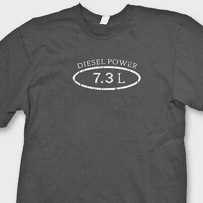 Diesel Power 7.3L Truck Ford Dodge T-shirt Funny Engine Stroke Tee Shirt
