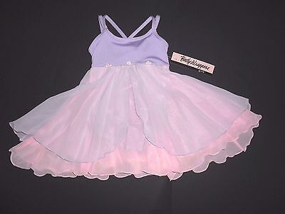 NWT Body Wrappers 3221 Empire Style  Camisole Dress Skirted  Leotard PINK LILAC