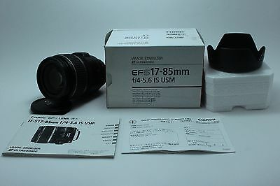 L@@K Canon EF-S 17-85mm F4-5.6 IS USM Lens excellent condition from Japan 259