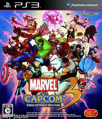 Used PS3 Marvel Vs. Capcom 3 Fate of Two Worlds Japan import