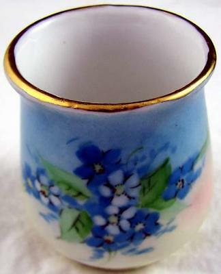 Antique Porcelain Hand Painted Toothpick Holder Artist Signed Made in Germany