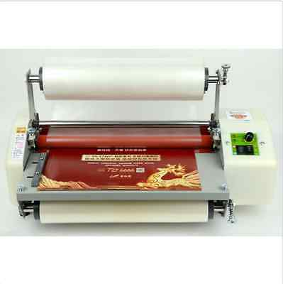 """Latest version 13"""" Four Rollers Hot and cold roll laminating machine  BI"""
