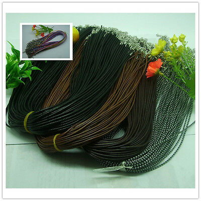 wholesale fashion Braid Leather Cord Necklace Lobster Clasp Chain