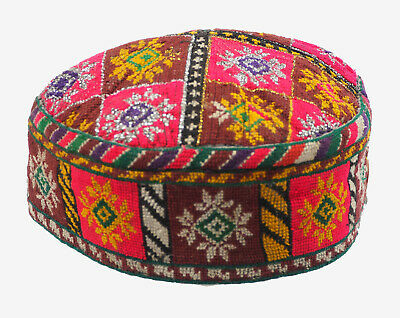 antik orient Usbek Hut Mütze Afghanistan afghan islamic embroidered cap hat No15