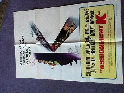 Michael Redgrave - ASSIGNMENT K - Original US One sheet movie poster 1968