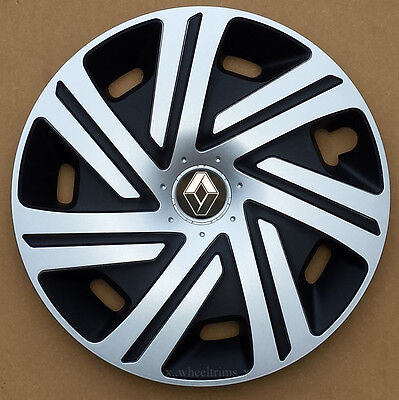 "Brand New silver/black  15"" wheel trims to fit Renault Scenic, Megane, Kangoo"