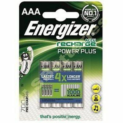 4 x ENERGIZER AAA 700 mAH POWER PLUS Rechargeable Batteries ACCU 700